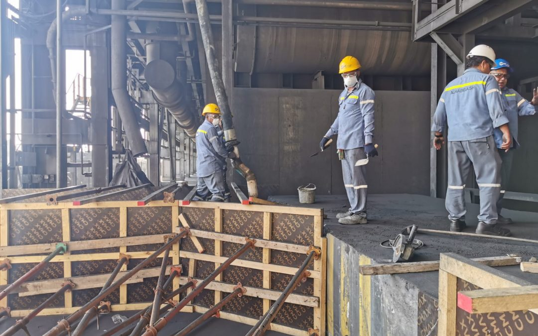 Repairing of Man Lift platform for Line 4- Alba