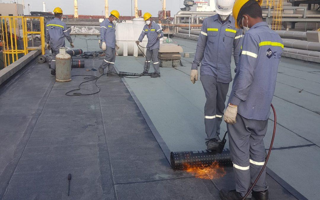 Waterproofing of Calciner and Marine buildings – Alba
